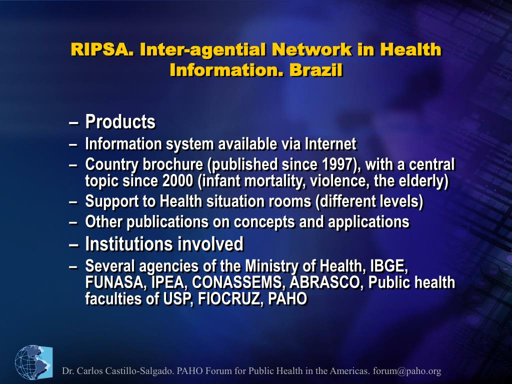 RIPSA. Inter-agential Network in Health Information. Brazil