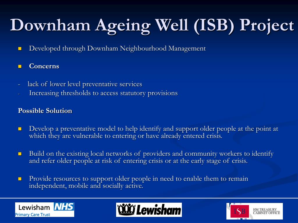 Downham Ageing Well (ISB) Project