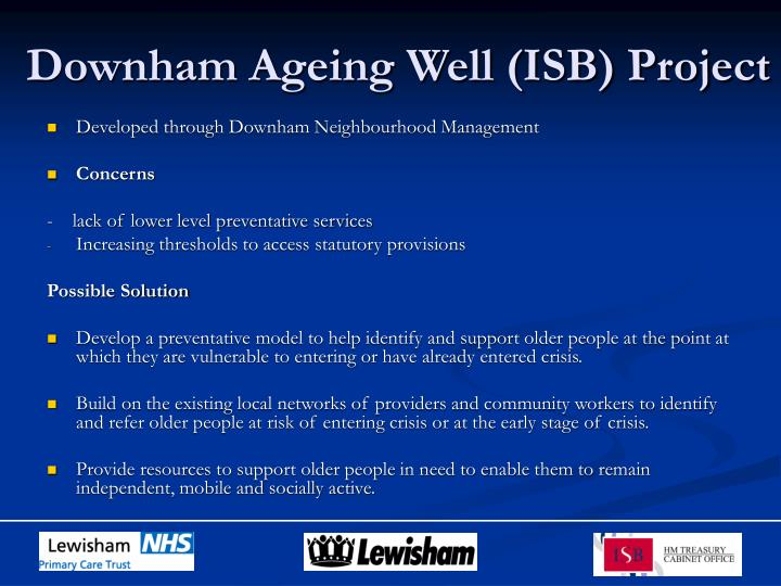 Downham ageing well isb project2
