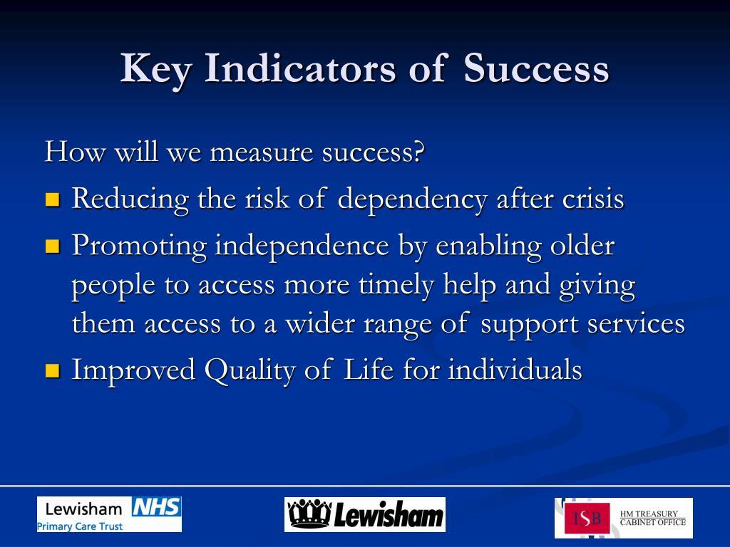 Key Indicators of Success