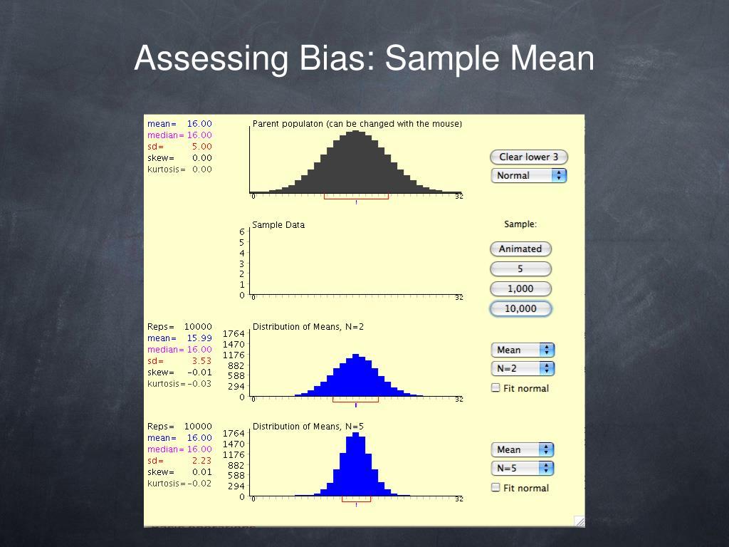 Assessing Bias: Sample Mean