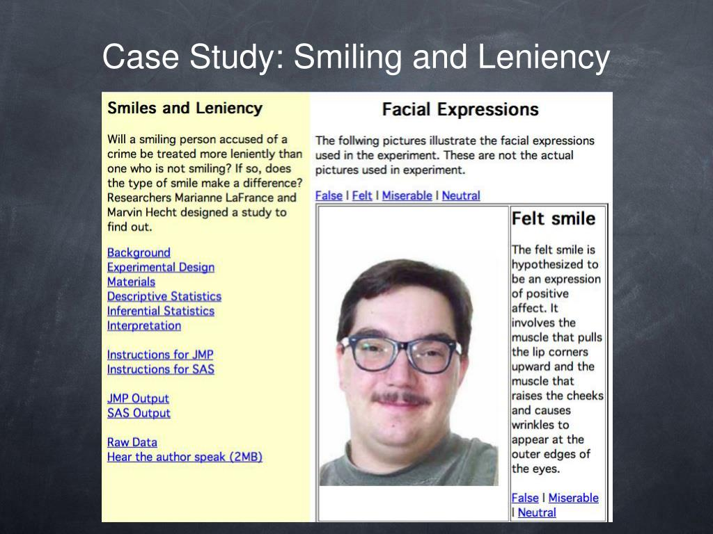 Case Study: Smiling and Leniency