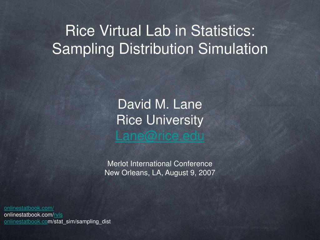 Rice Virtual Lab in Statistics: