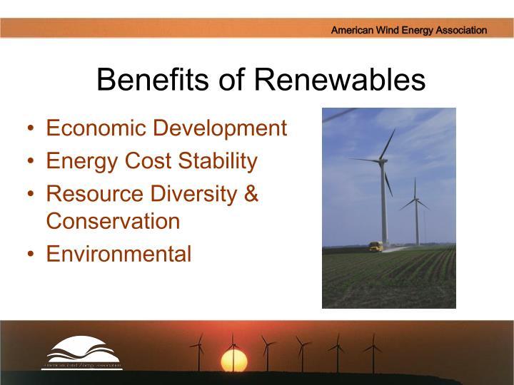 Benefits of renewables
