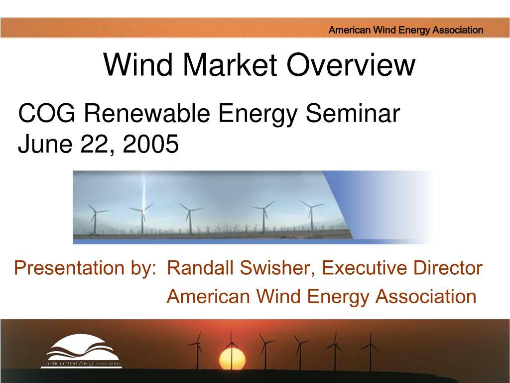 Wind Market Overview