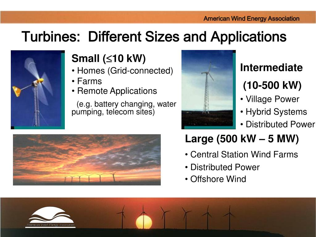 Turbines:  Different Sizes and Applications