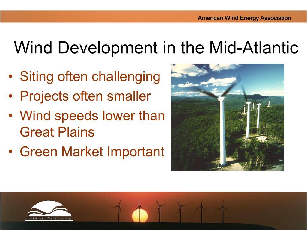 Wind Development in the Mid-Atlantic