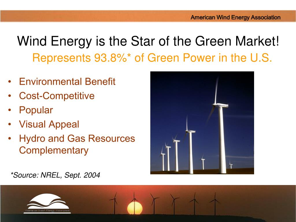 Wind Energy is the Star of the Green Market!