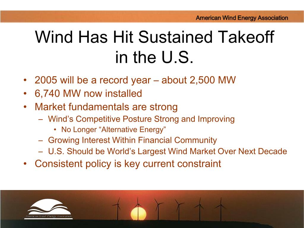 Wind Has Hit Sustained Takeoff in the U.S.