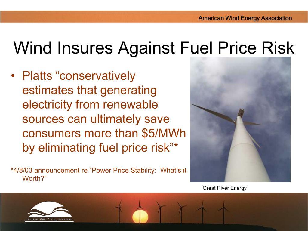 Wind Insures Against Fuel Price Risk