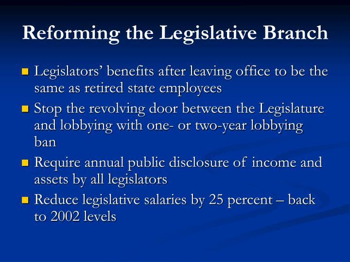 Reforming the Legislative Branch