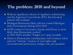 the problem 2010 and beyond