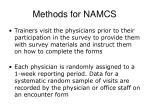 methods for namcs