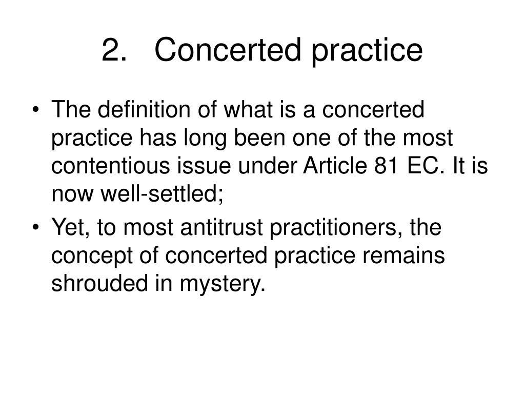 2.Concerted practice