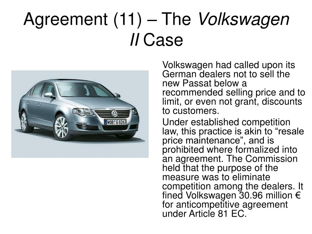 Agreement (11) – The