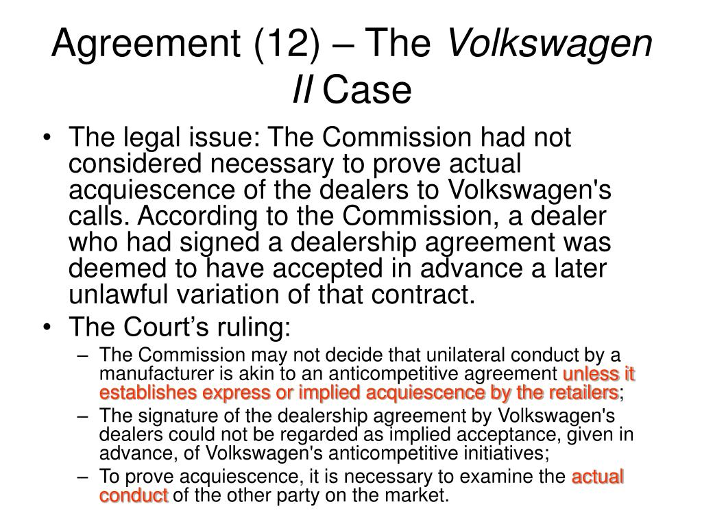 Agreement (12) – The