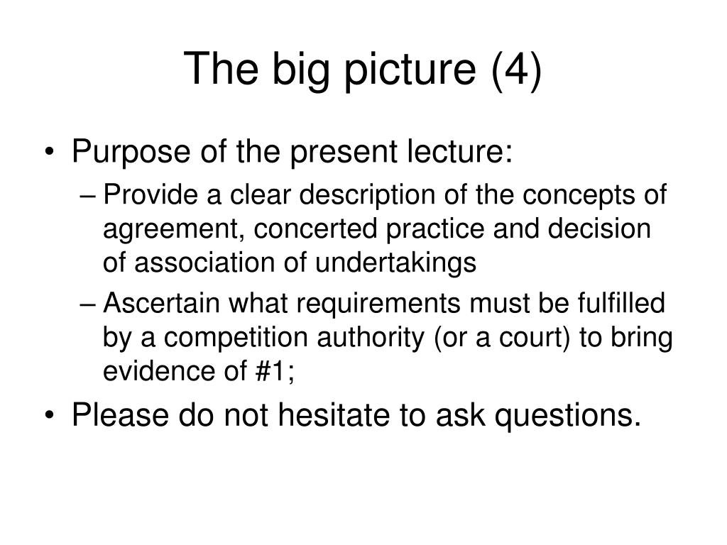 The big picture (4)
