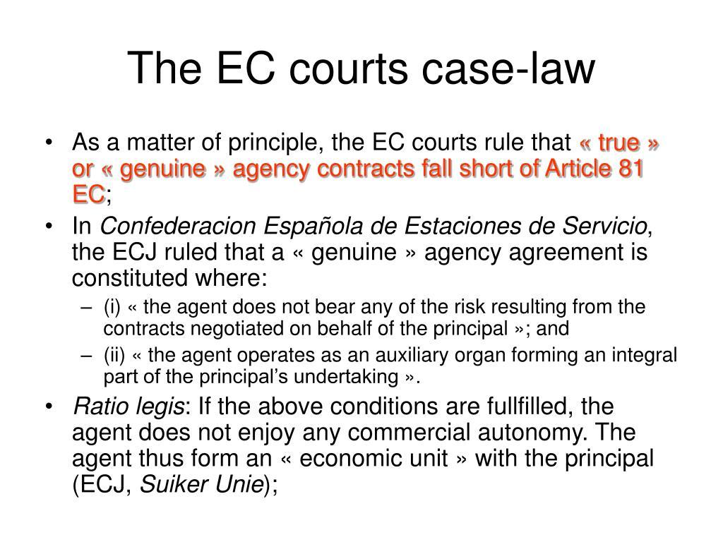 The EC courts case-law