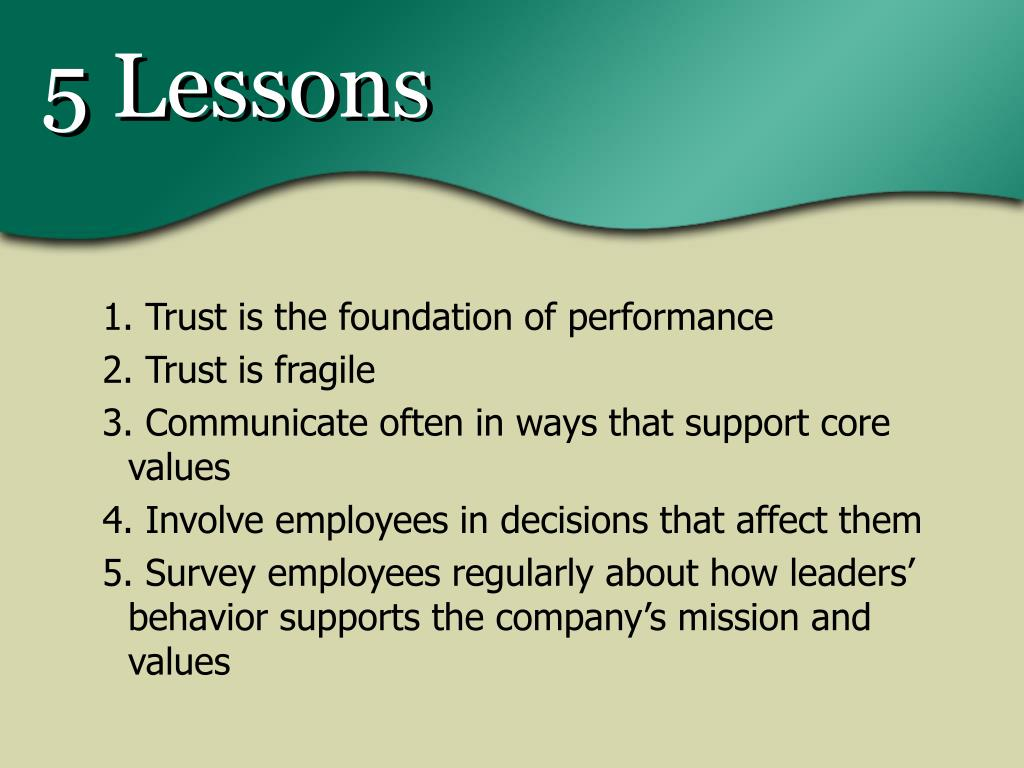 5 Lessons