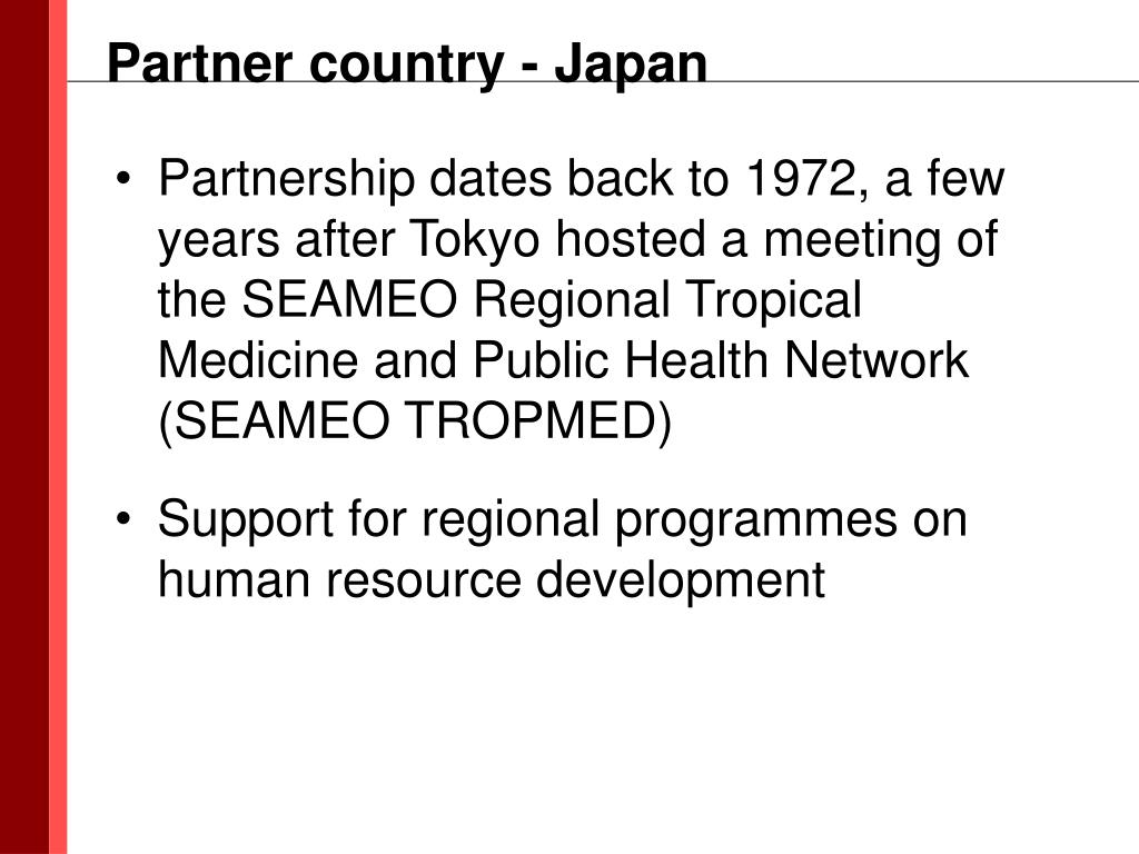 Partner country - Japan