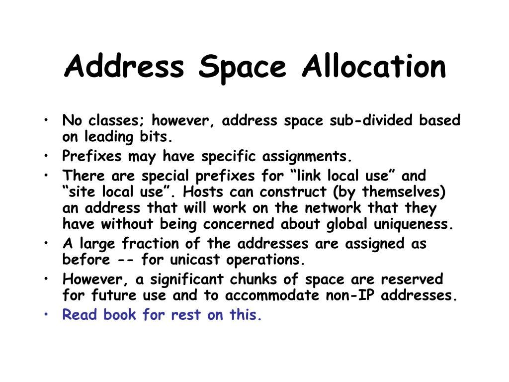 Address Space Allocation
