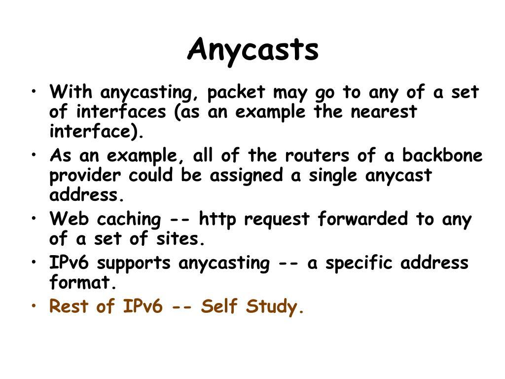 Anycasts
