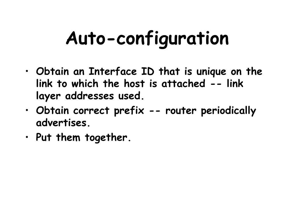 Auto-configuration