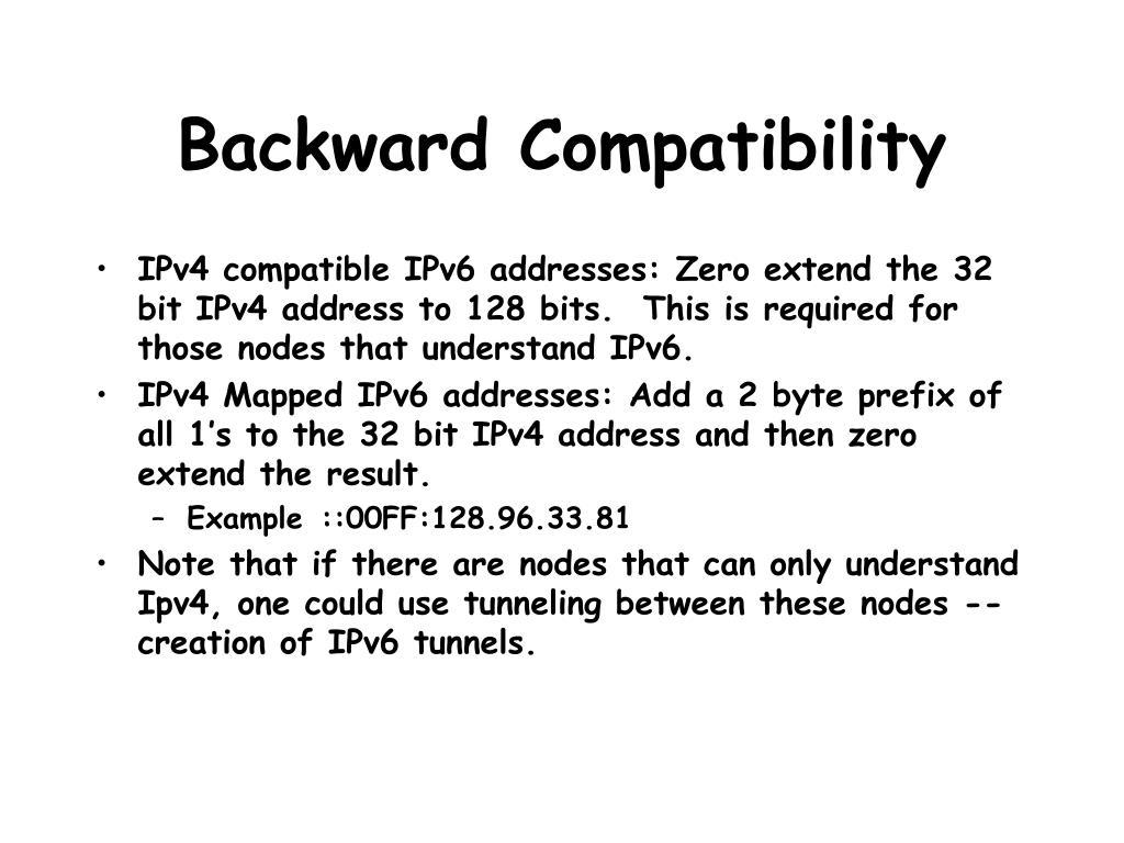 Backward Compatibility