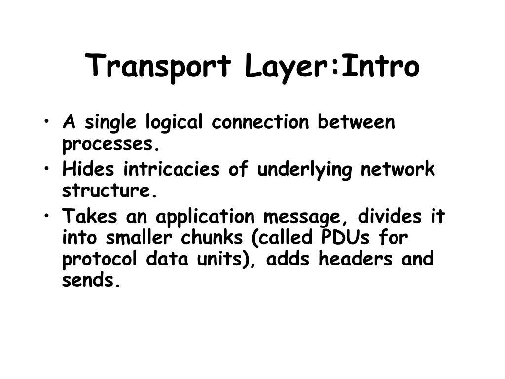 Transport Layer:Intro