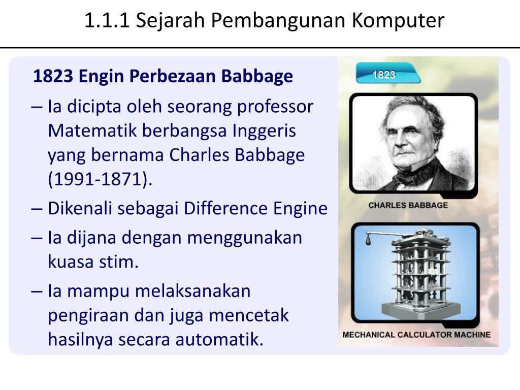1.1.1 Sejarah Pembangunan Komputer
