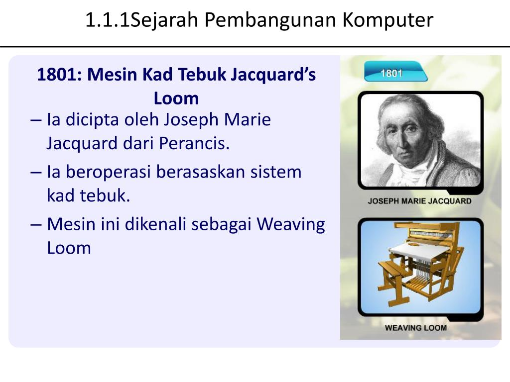 1.1.1Sejarah Pembangunan Komputer