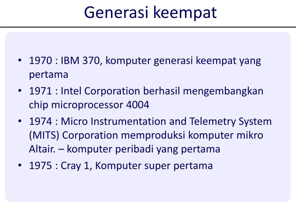 Generasi keempat