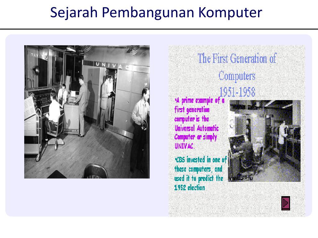 Sejarah Pembangunan Komputer