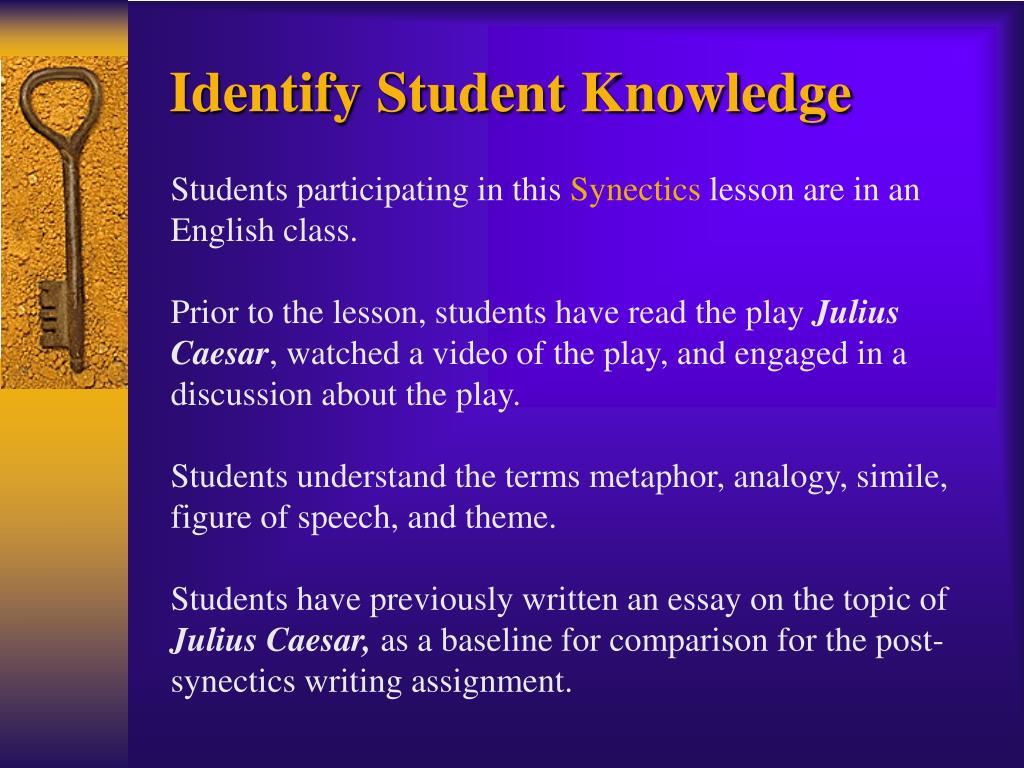 Identify Student Knowledge
