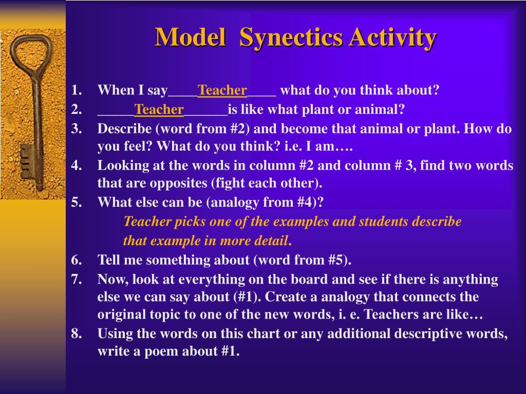 Model  Synectics Activity