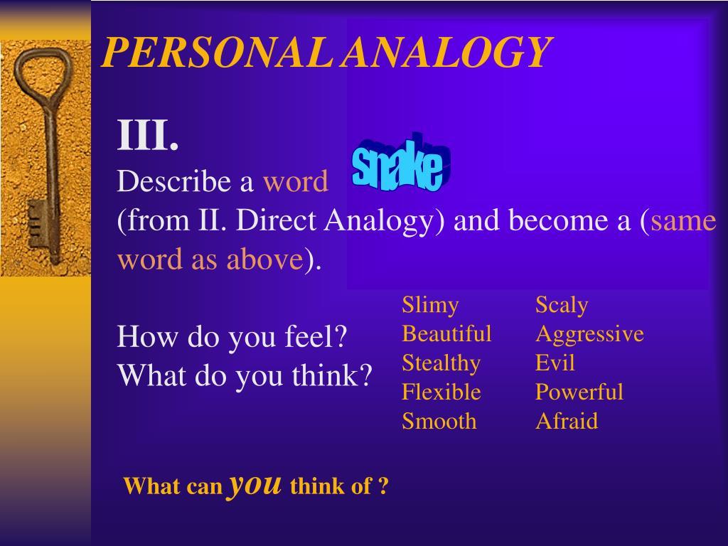 PERSONAL ANALOGY