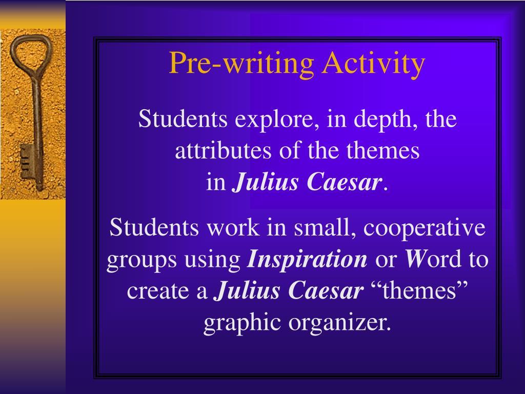 Pre-writing Activity