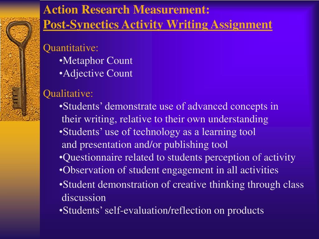 Action Research Measurement: