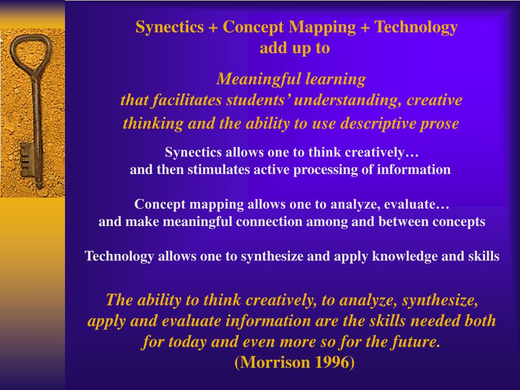 Synectics + Concept Mapping + Technology