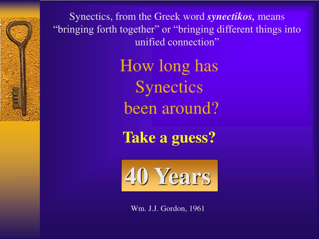 Synectics, from the Greek word