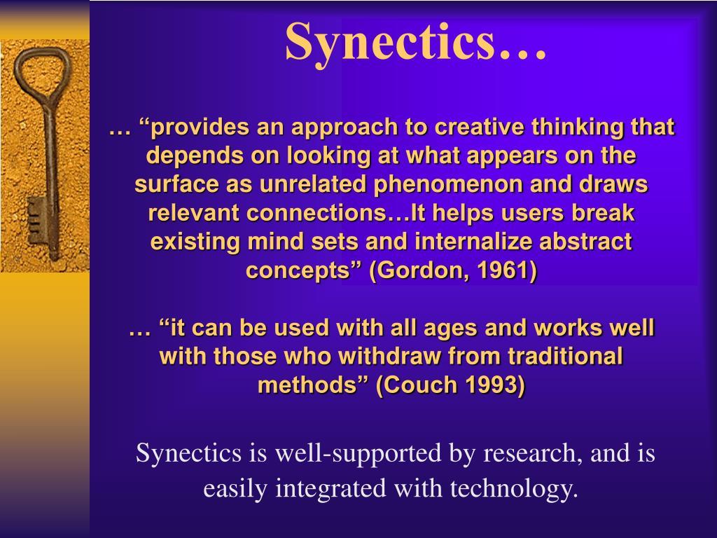 Synectics…