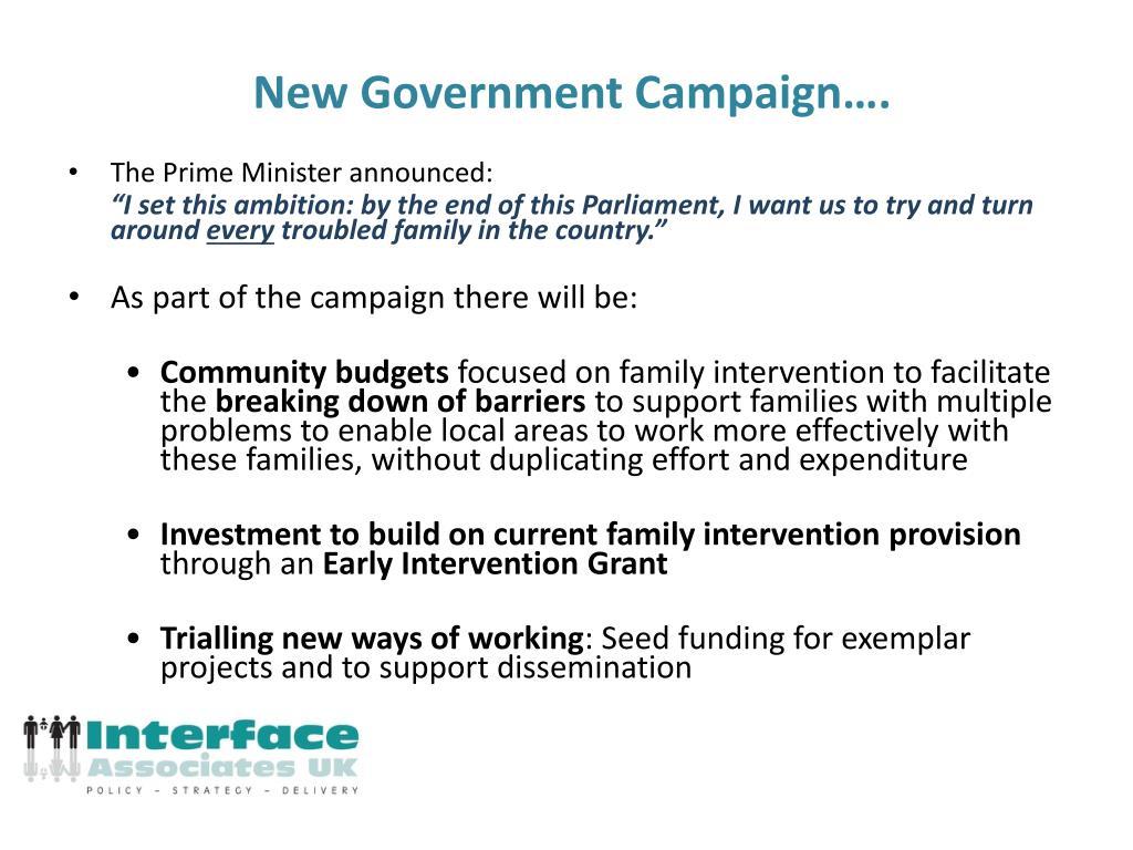 New Government Campaign….