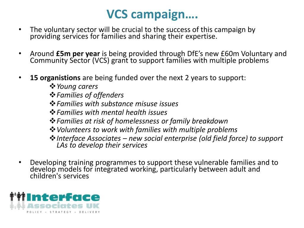 VCS campaign….