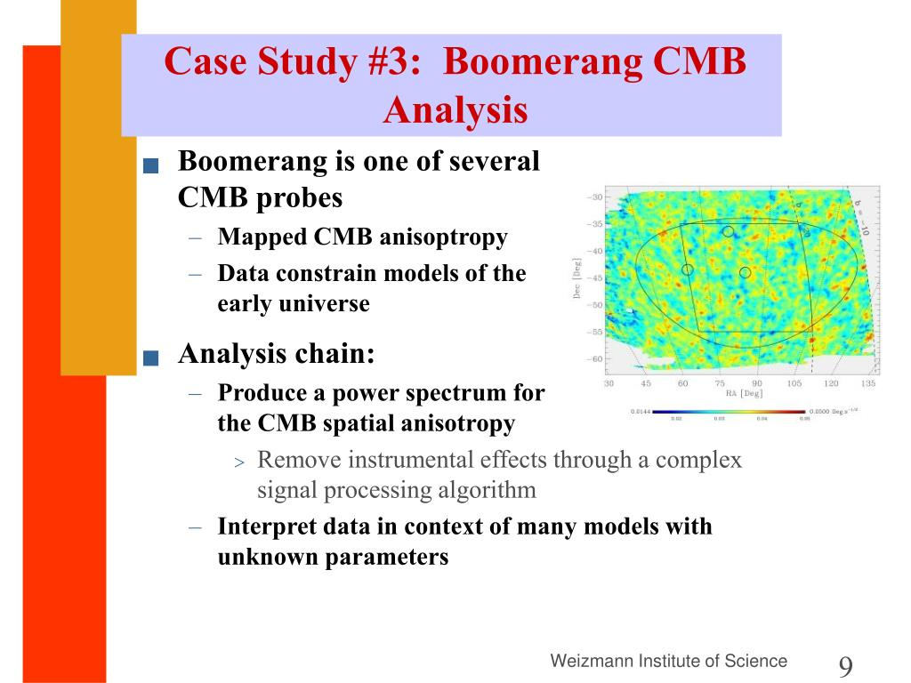 Case Study #3:  Boomerang CMB Analysis