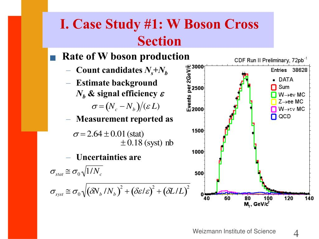 I. Case Study #1: W Boson Cross Section