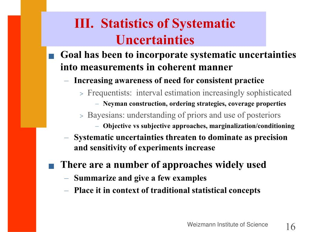 III.  Statistics of Systematic Uncertainties
