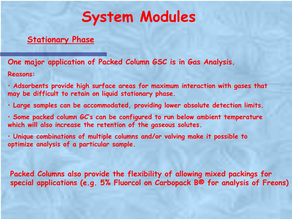 System Modules
