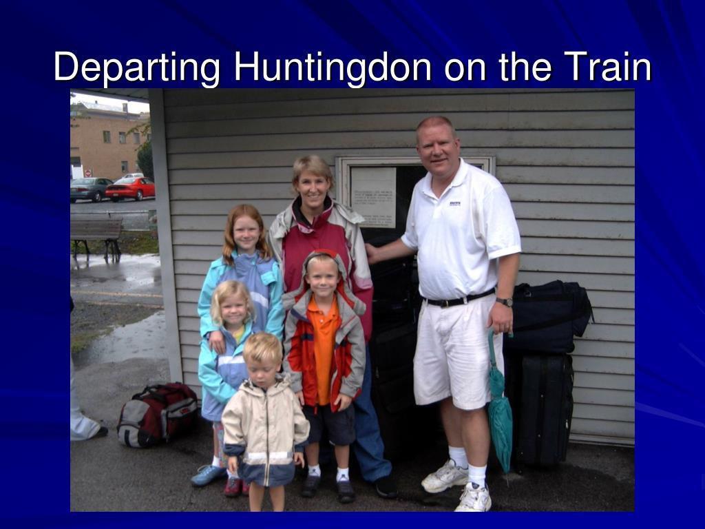 Departing Huntingdon on the Train