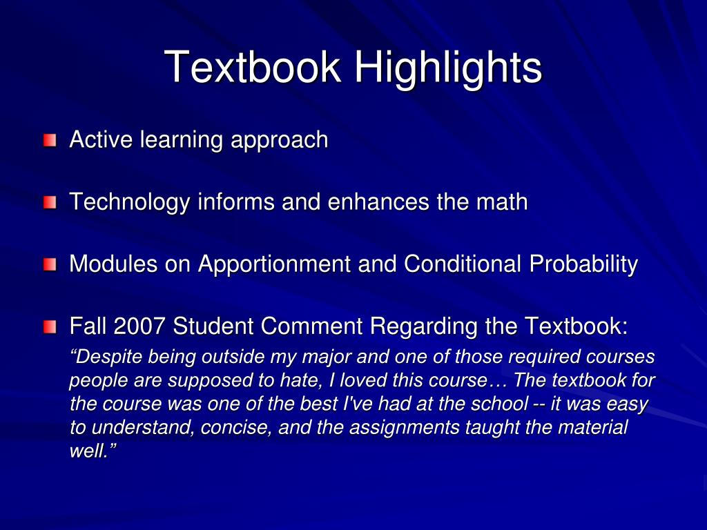 Textbook Highlights