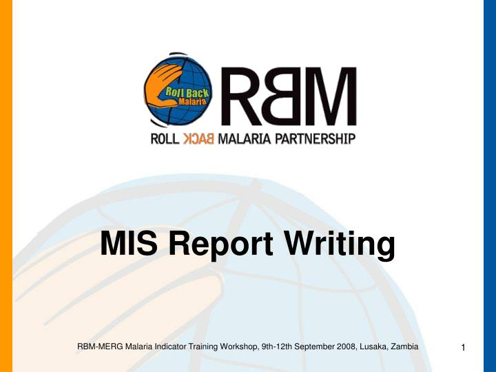 Mis report writing